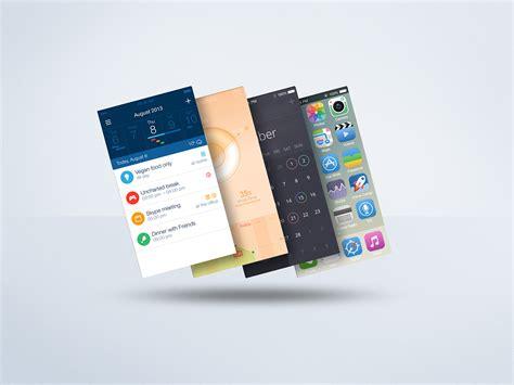 ux design mockup floating mobile display mock up psd freebie on behance