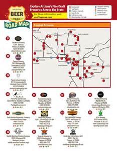 arizona breweries map arizona trail road map craftbeeraz