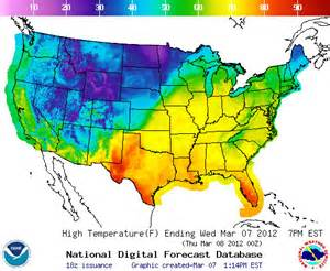 weather map temps journey handouts