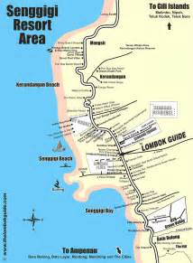 the lombok guide map of senggigi