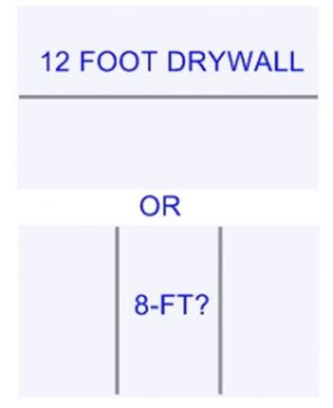 hanging 8 ft long or 12 ft long drywall which is better