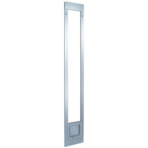 Doggie Doors Lowes by Shop Small White Aluminum Sliding Pet Door Actual 6 25