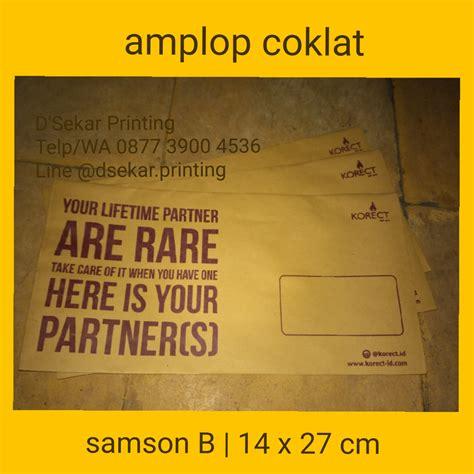Jual Kain Spunbond Bogor cetak lop coklat samson murah pusat cetak sablon