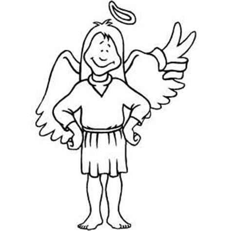 boy angel coloring page angel boy coloring page