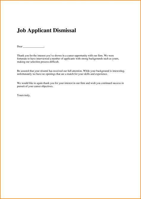 Rejection Letter Overqualified Sle Candidate Rejection Letter Resume Cover Letter Template