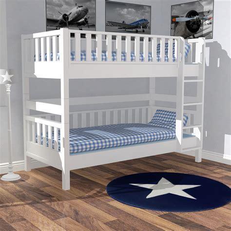 Kinderbett Skandinavisches Design by Roomstar Etagenbett Weiss Gerade Leiter Skandinavisches
