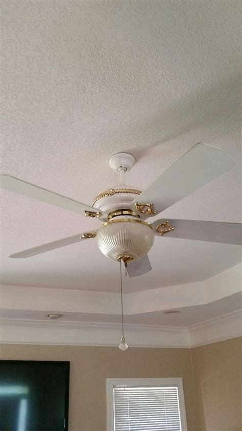 white and gold ceiling fan letgo white and gold ceiling fan in clarkesville ga