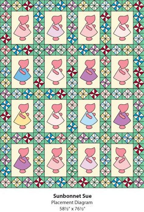 free sunbonnet sue quilt pattern from the quilter