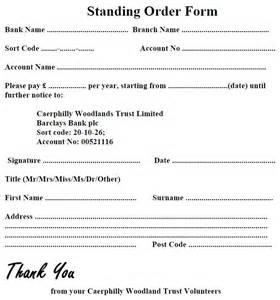 Standing Order Form Template by Standing Order Form Template Bestsellerbookdb