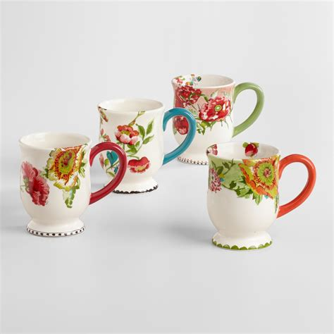 Flowers Mug nomad flower mugs set of 4 world market