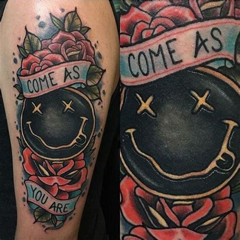 come as you are with these sick nirvana tattoos tattoos