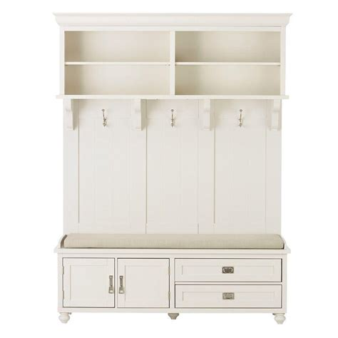 Home Decorators Collection Furniture home decorators collection vernon polar white hall tree