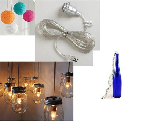 Make Your Own Pendant Light Kit Build Your Own L Kit Swag Hanging In Light Replacement Electrical Cord Kit Lets You Make