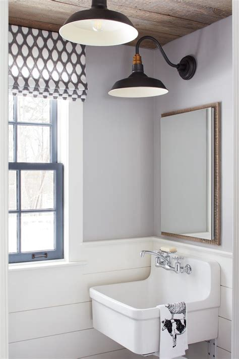 Attractive Mediterranean Mirrors For Bathrooms #6: Shiplap-wainscoting-bathroom-farmhouse-with-vintage-kitchen-contemporary-wall-sconces.jpg
