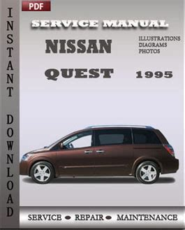 car engine repair manual 2011 nissan quest electronic valve timing nissan quest 1995 factory manual download repair service manual pdf