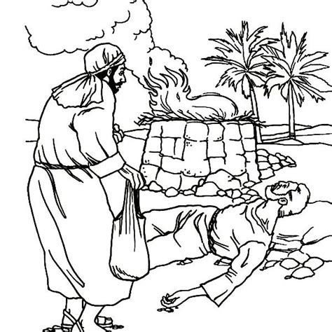 free printable cain and abel coloring pages diannedonnelly