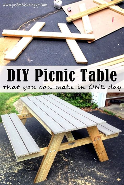 how to build a picnic table plans best 25 build a picnic table ideas on diy