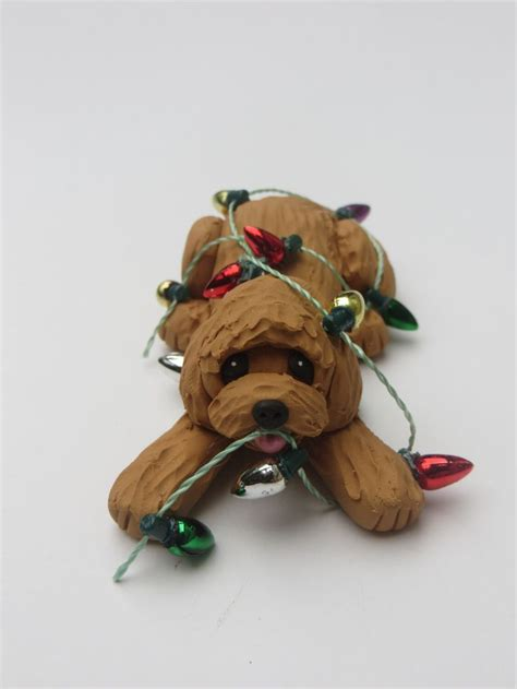 labradoodle holiday ornaments goldendoodle labradoodle ornament polymer clay lights polymers
