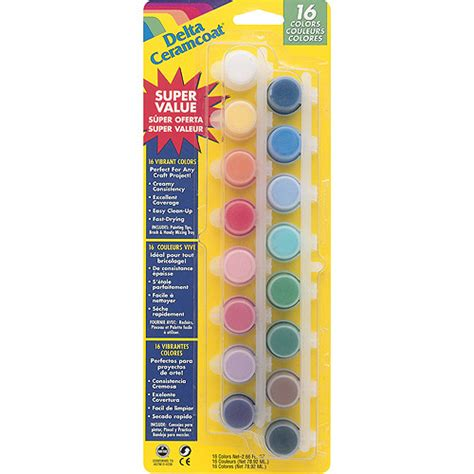 ceramcoat acrylic paint pots 16 colors walmart