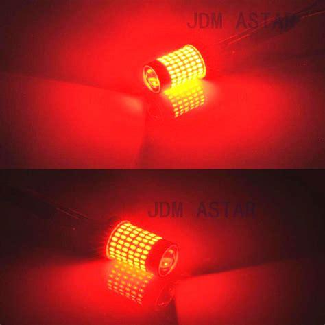 led stop light bulbs jdm astar 2x 144 smd 7443 7440 red bright led bulbs brake
