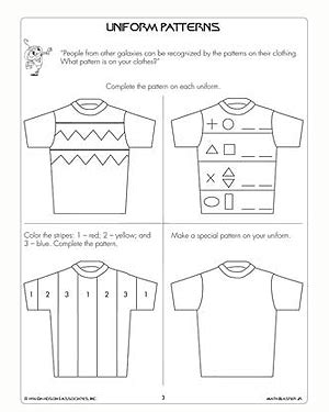Pattern Math Worksheets 1st Grade | 9 best images of veterans day printable worksheets