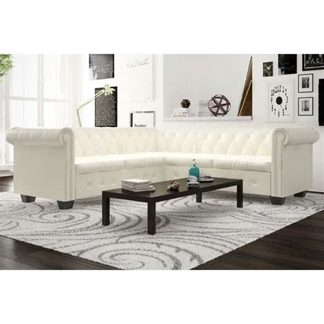 white chaise lounge sofa bed vidaxl 5 seater chesterfield corner leather sofa