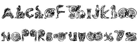 animal tattoo fonts animal caps font comments