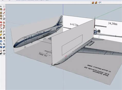 sketchup layout graphic scale how to create a 3d model caravelle jet airline planes