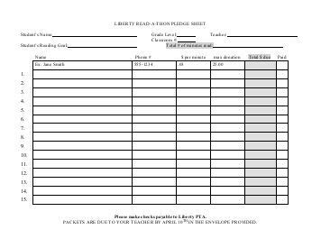 Jog A Thon Pledge Forms Hit A Thon Fundraiser Template