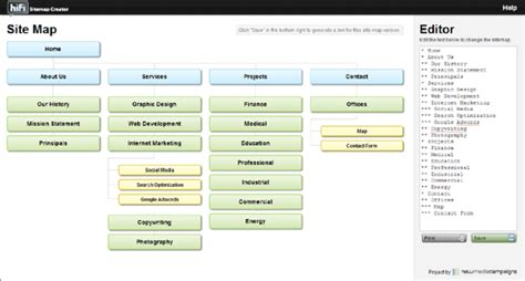 sitemap tool quickly build and a sitemap with a jquery sitemap