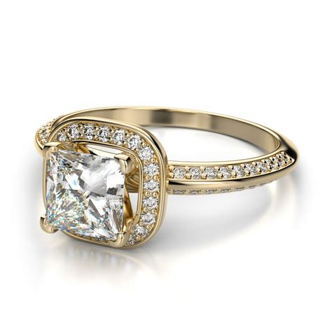 yellow gold princess cut engagement rings wonderful
