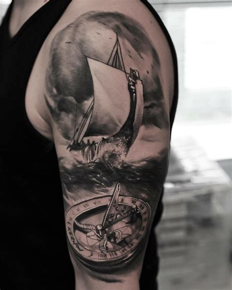 sea storm sail boat tattoo tattoo geek ideas for best