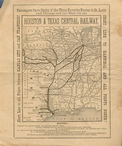 texas railroad maps votes for houston and texas central railway schedule back cover texas state library