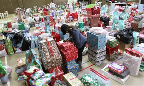 the salvation army distributes angel tree gifts to 1 700