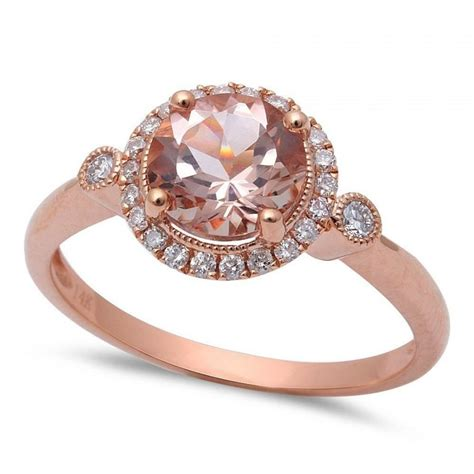 Handcrafted Gold Rings - gold ring morganite engagement ring gold
