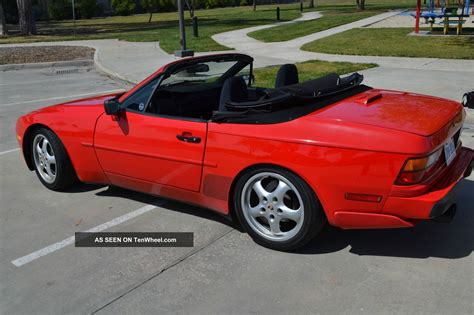 red porsche convertible 1989 porsche 944 s2 cabriolet convertible guards red