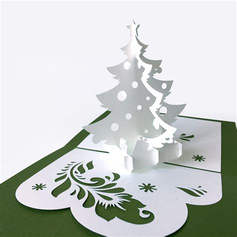 template pop up card 171 christmas tree 187