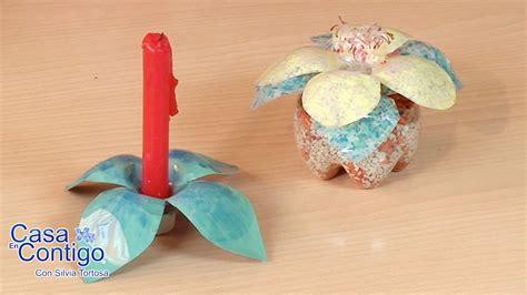 candelabros en botellas plasticas como hacer flores portavelas miniterrariums con botellas