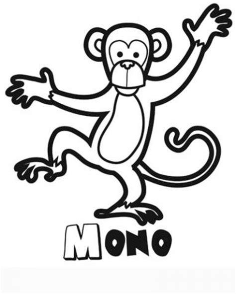 imagenes de monos faciles para dibujar dibujo de un mono para colorear im 225 genes de animales