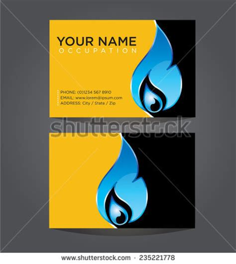 hvac efficiency card template business card template plumbing heating air stock vector