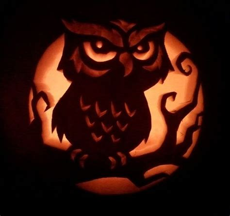owl pumpkin carving templates owl pumpkin carving halloweenpumpkins