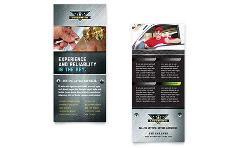 Rack Card Templates by Locksmith Rack Card Template Design