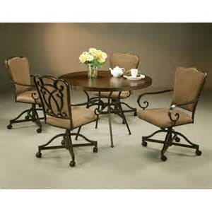Dining Table With Caster Chairs Pastel Willington 5 Wood Top Dining Table Set With Caster Chairs At Hayneedle
