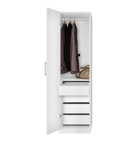 Wardrobe Space Savers by Alta Space Saver Narrow Wardrobe Left Door 4 Interior Drawers Contempo Space