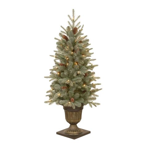 feel real alaskan spruce tree national tree company 4 5 ft feel real alaskan spruce potted artificial tree with