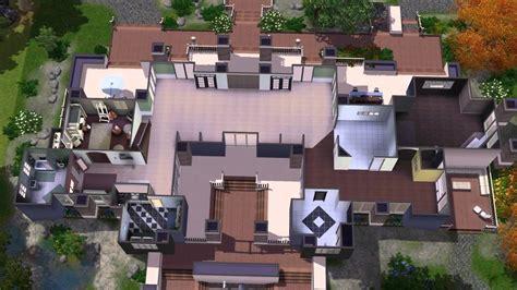 Modern Mansion Floor Plans The Sims 3 House Building Timolo 46 Chrillsims3 Youtube