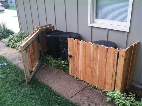 trash can storage diy trash can storage keep them out of sight carlson