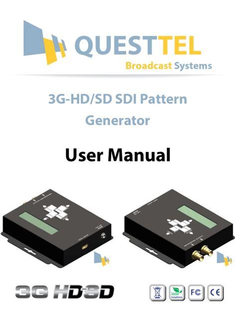 hd video pattern generator sdi pattern generator