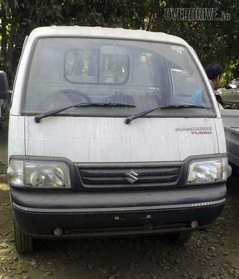 maruti suzuki dealers in india spied maruti suzuki carry turbo lcv at a dealer