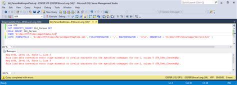 format file sql server bulk insert bulk insert with format file not skipping column in